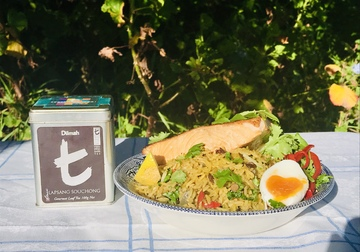 Kedgeree Re-Imagined for 2021 with Tea Smoked Salmon