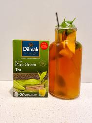 Dilmah Peach Green Tea Mocktail (Peachy Green)