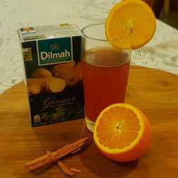 Spiced orange ice tea